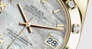 The white dials fake Rolex Pearlmaster 34 watches have Roman numerals and date windows.