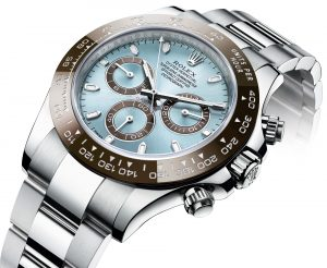 The attractive copy Rolex Cosmograph Daytona 116506 watches have ice blue dials.