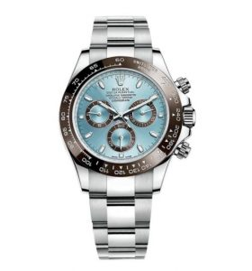 The luxury fake Rolex Cosmograph Daytona 116506 watches are made from platinum.