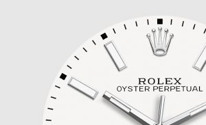 The easy-to-read fake Rolex Oyster Perpetual 39 114300 watches have white dials and luminant hour marks and hands.