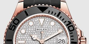 The luxury copy Rolex Yacht-Master 37 268655 watches are made from everose gold and diamonds.
