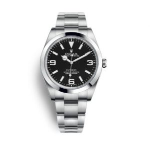 The sturdy fake Rolex Explorer 214270 watches are made from Oystersteel.