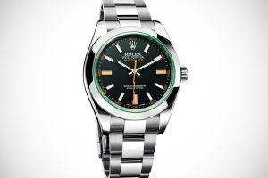 The sturdy replica Rolex Milgauss 116400GV watche are made from Oystersteel.