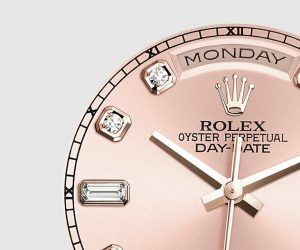 The 36 mm replica Rolex Day-Date 36 118205 watches have pink dials.