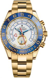 The 44 mm copy Rolex Yacht-Master II 116688 watches have white dials.