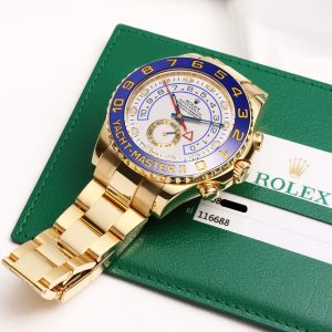 The luxury fake Rolex Yacht-Master II 116688 watches are made from yellow gold.