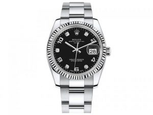 The 34 mm replica Rolex Datejust 34 115234 watches have black dials.