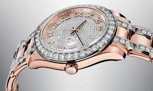 The luxury fake Rolex Pearlmaster 39 86285 watches are made from everose gold.