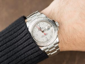 The luxury copy Rolex Yacht-Master 116622 watches are made from platinum.