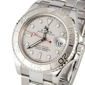 The 40 mm fake Rolex Yacht-Master 116622 watches have white mother-of-pearl dials.