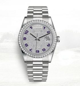 The female fake watches are made from platinum.