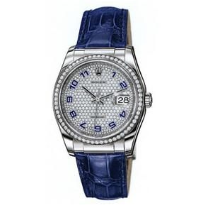 The luxury fake watches are made from 18k white gold.
