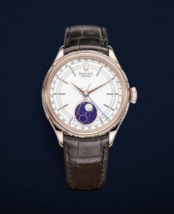 The luxury fake watches are made from 18ct everose gold.