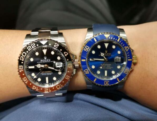 These two watches are the popular sporty watches of Rolex.