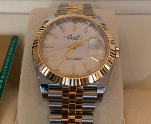 The gold and steel Datejust looks very mild and charming.