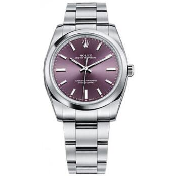 The purple dial makes the timepiece more elegant.