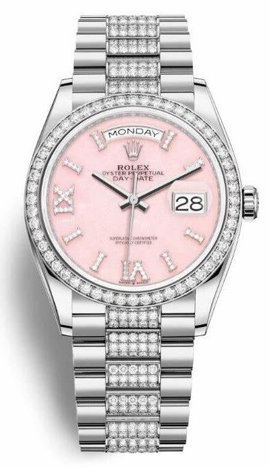 Luxury replica watches skillfully combine the diamonds and Roman numerals.
